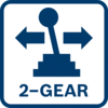 最適合鎖螺絲的扭力和鑽孔的速度 配備高低兩速的行星齒輪箱