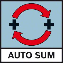 自動總和 使用自動總和函數自動相加測量結果
