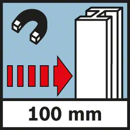 金屬的測量深度 鋼材的測量深度,最大100 mm