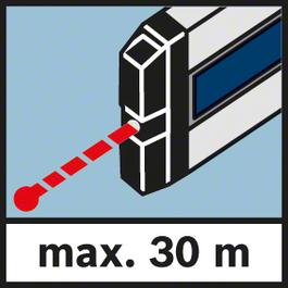 雷射最大測量範圍30 m 最大測量範圍30 m