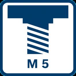 心軸螺紋M 5