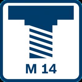 心軸螺紋M 14