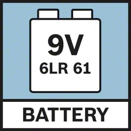 電池9.6V 由1顆9V 6LR61電池供應電力