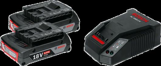 2顆GBA 18V 2.0Ah + AL 1860 CV Professional