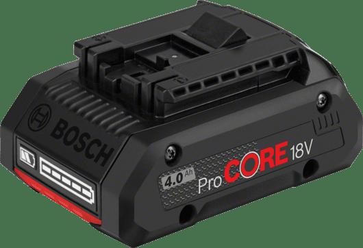 紙板箱內包含1顆4.0 Ah ProCORE18V鋰離子電池