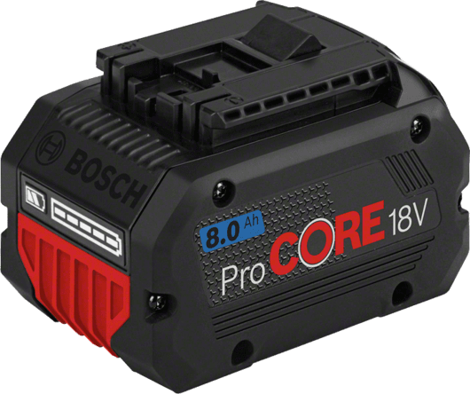 紙板箱內含1顆8.0 Ah ProCORE18V鋰離子電池